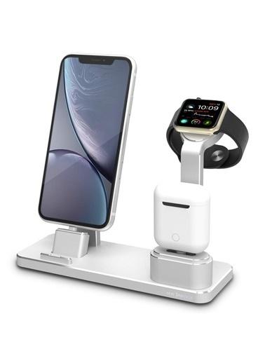 Mcstorey İphone Watch ve Airpod Şarj Stand Gri